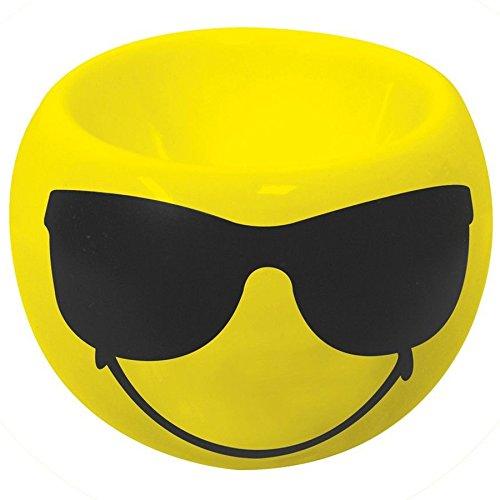 Zak Designs 6727-4464 Smiley Emoticon Sonnenbrille Eierbecher gelb