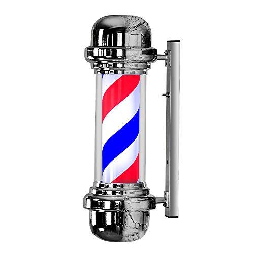 Lampenkap 57 cm, klassiek rood licht, blauw en wit licht, voor make-uptafel, om op te hangen, voor barbeers