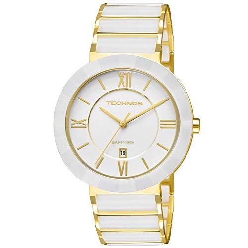 Relógio Technos, Pulseira de Aço, Feminino, Branco