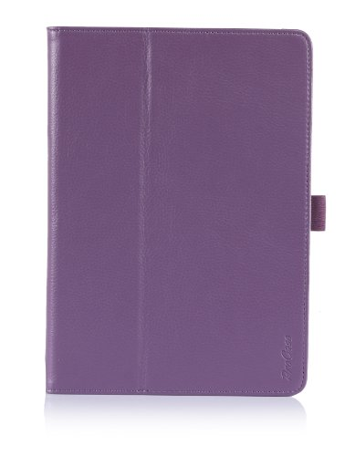 ProCase Apple iPad Air Case with Bonus Stylus Pen - Flip Stand Leather Folio Cover for Apple iPad Air, iPad 5, iPad 5th Generation, auto Sleep/Wake Built-in Stand (Purple)