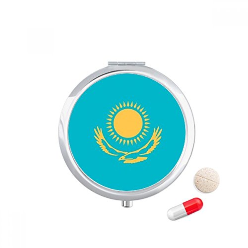 DIYthinker Kazachstan Nationale Vlag Azië Land Reizen Pocket Pill case Medicine Drug Storage Box Dispenser Spiegel Gift