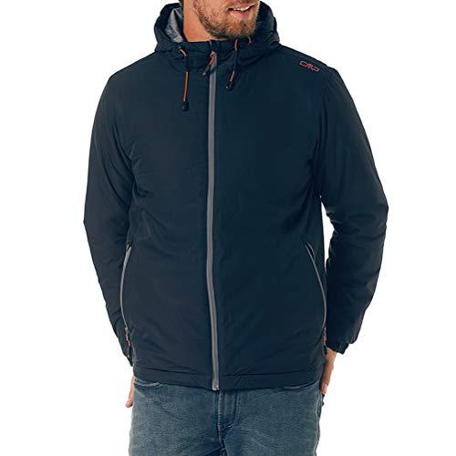 CMP F.lli Campagnolo - Cappotto da uomo Ripstop 10.000 mm, colore: Nero/Blu 52