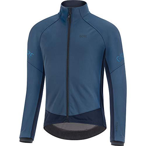 GORE WEAR Chaqueta térmica de ciclismo para hombre, C3, GORE-TEX INFINIUM, M, Azul oscuro/Azul marino