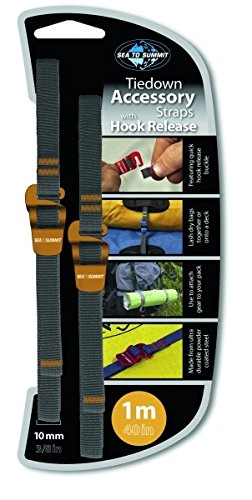 Sea to Summit spanbanden/bagageband Hook Release Straps met snelsluiting