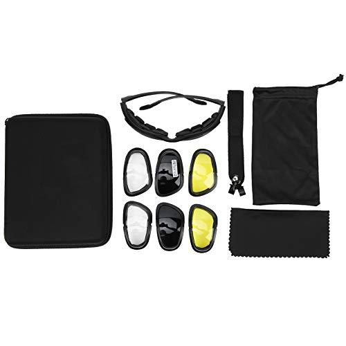 Vbest life Gafas para Exteriores Resistentes a Impactos, Juego de Gafas Antideslizantes multifunción con Piezas de Repuesto para Actividades al Aire Libre