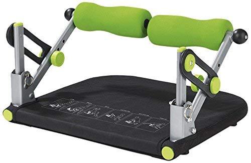 VITALmaxx Fitnesstrainer Basic 5 in 1 | Trainiert Bauch, Rücken, Beine & Arme | Allround Fitness Gerät und platzsparend verstaubar | [Schwarz-Grün]