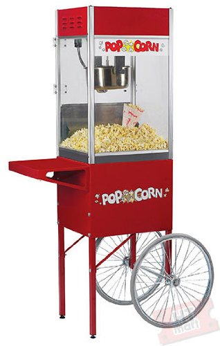 Hot Sale Classic Popcorn Popper 6oz Popcorn Machine with Cart