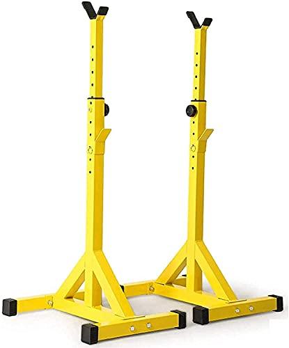 Soporte para barra con barra Soporte para sentadillas Soporte para press de banca Soporte ajustable para sentadillas y soportes para press de banca Equipo de gimnasio en casa con barra Máquinas de ent