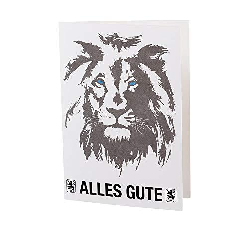 TSV 1860 München Grußkarte - Löwe - Alles Gute Geburtstagskarte, Glückwunschkarte, Karte - Plus Lesezeichen Wir lieben Fußball