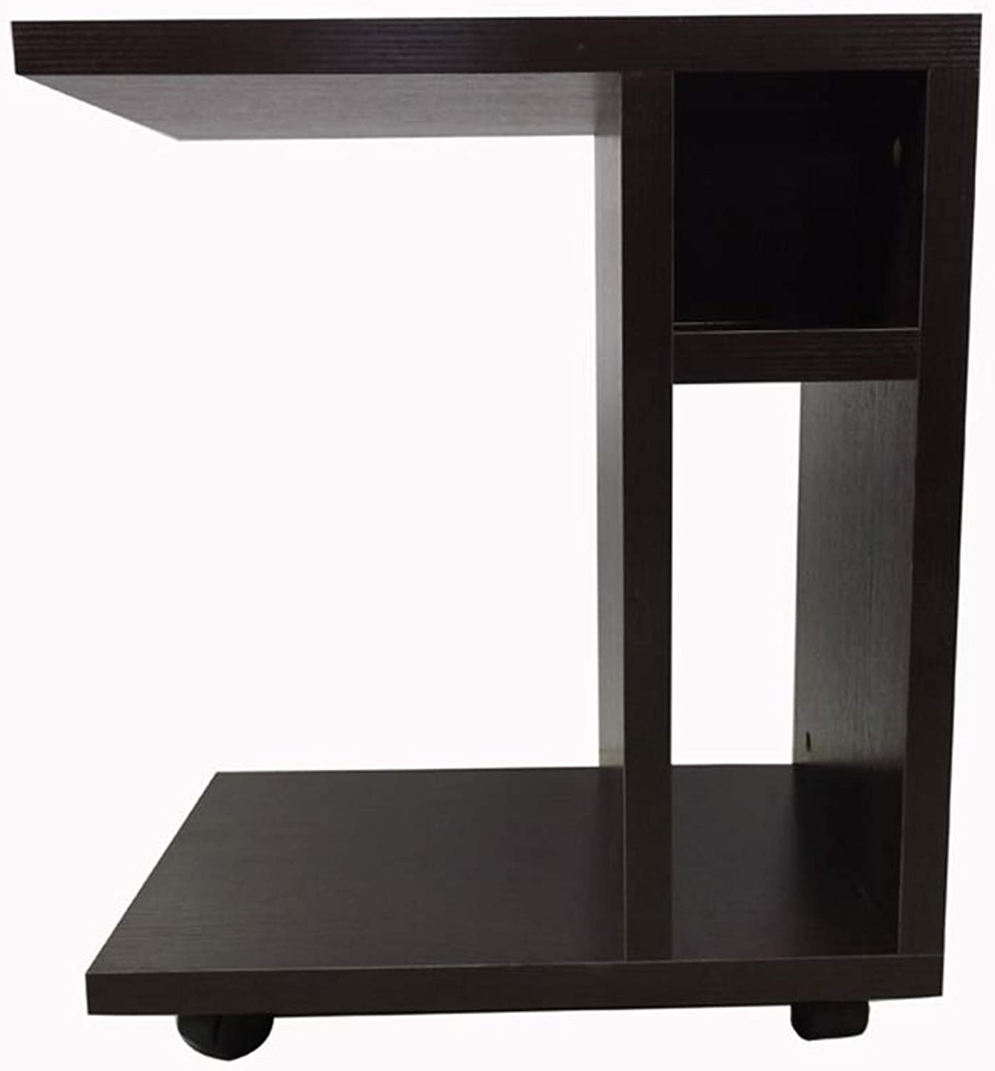 Small Coffee Table Simple Side Table Double Wood-Based Panel Multifunctional Sofa Table