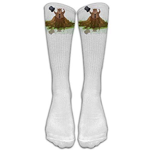 Estrange Awesome And Funny Happy Groundhog Day I'm Back Unisex Compression Socks Casual Athletic Socks Creative Women And Men's Novelty Crew Sock Stockings Tube Socks
