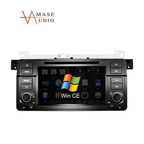 """Amaseaudio, Car Stereo, 1 Din for BMW E46 M3(1998-2005), 7"""" Touchscreen, in Dash DVD Player, Windows CE 6.0, GPS Navi, Head Units with Car Stereo Bluetooth"""