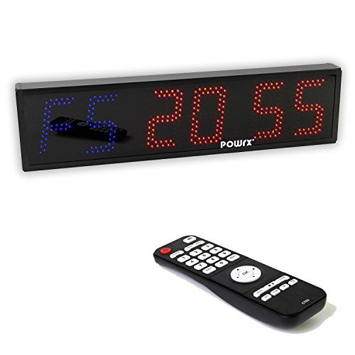 POWRX Sport Timer Board | Count-Down-Timer Zähler | Maße: 65 x 16 x 5 cm | 6 Stellen LED mit Fernbedienung