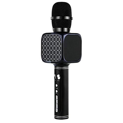 LOVEHOUGE Micrófono inalámbrico Bluetooth para karaoke portátil, 3 en 1, altavoz de karaoke para Android/iPhone/PC/smartphone, color negro