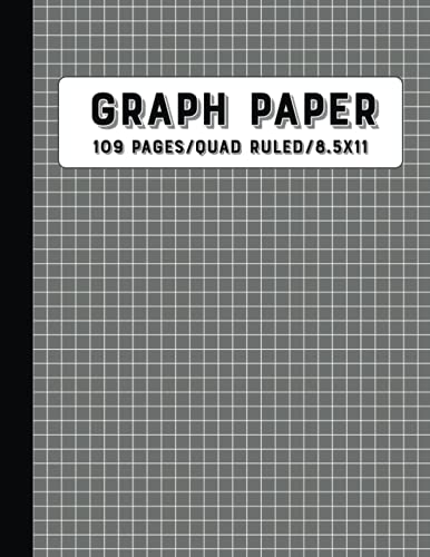 Graph Paper Composition Notebook: Grid Paper, Quad Ruled, 109 Sheets, 8.5x11