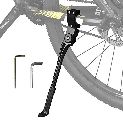 "LEICHTEN Adjustable Bicycle Kickstand Aluminum Alloy Bike Kick Stand for 26"" 27.5"" 28"" 29"" 700c Mountain Bike /Road Bike/ BMX /Adults bike/City bike Storage"