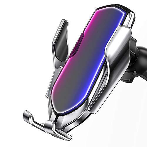 YuuHeeER 1 cargador de coche inalámbrico, soporte de ventilación automático para teléfono móvil.