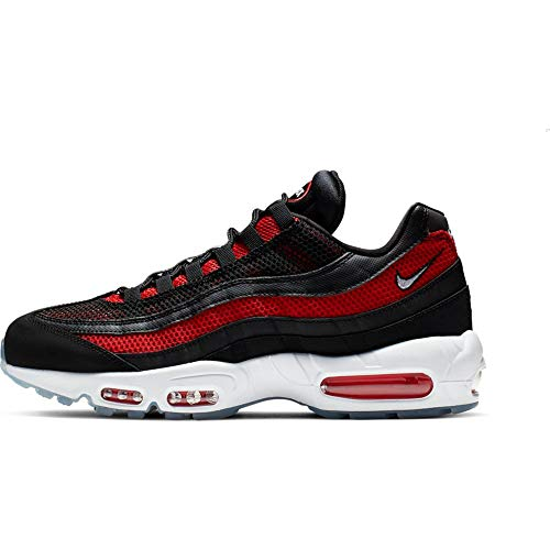 Nike Men's Air Max 95 Essential Track & Field Shoes, Multicolour (Black/White/University Red 39), 6 UK