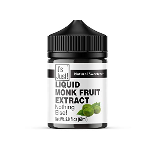 It's Just - Liquid Monk Fruit Extract, Nothing Else, Keto Friendly, Monkfruit Sweetener, Non-GMO, Non-Glycemic, Made in USA