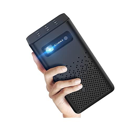 SHDREAM Proyector, Mini Android portátil. TV 9.0 Proyector de películas, con 2 altavoces de alta fidelidad integrada, pantalla automática de corrección de piedra angular, proyector de cine en casa ada