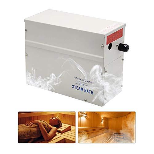 cilyberya Generatore di Vapore per Bagno con Certificazione CE Generatore per Bagno Turco Temperatura e temporizzazione Controller Digitale Riscaldamento Motore