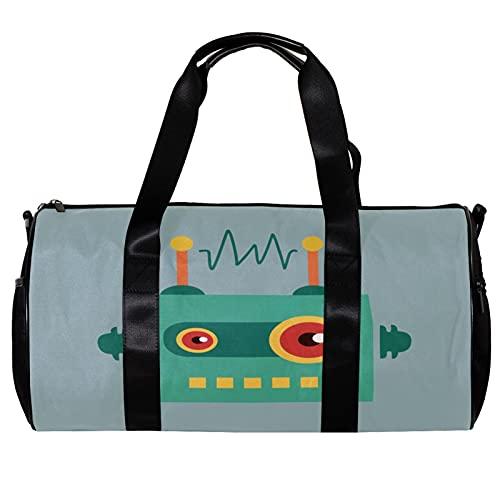 Bolsa de viaje para mujeres y hombres divertido robot de dibujos animados...
