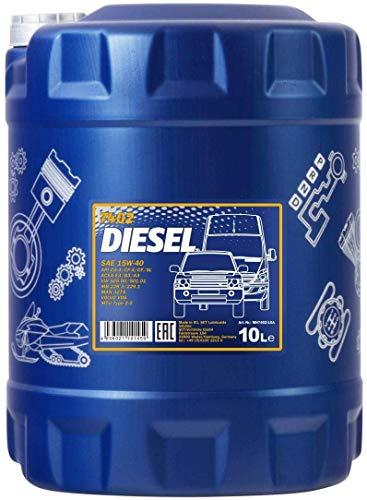 MANNOL Diesel 15W-40 API CG-4/CF-4/CF/SL Motorenöl, 10 Liter