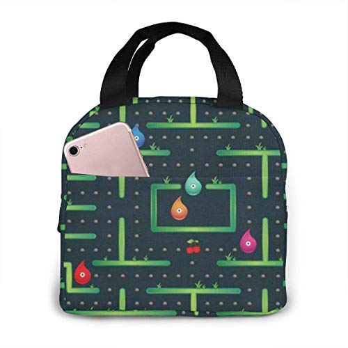 N\A Monster Labyrinth Video Game Lunch Tote Bag Refrigerador térmico Reutilizable Lonchera Bolso para Hombres Mujeres Viaje de Trabajo Escolar
