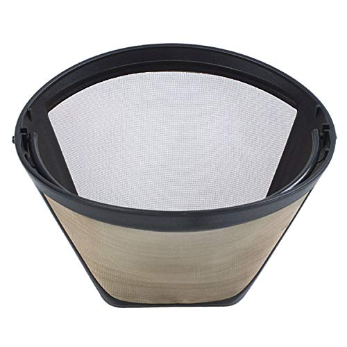 TOOGOO 1PC Permanent Reusable #4 Cone Shape Coffee Filter Mesh Basket Stainless New