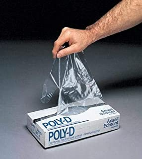 Ansell Edmont 925691 Ansell Large Clear Poly-D 1 mil Polyethylene Ambidextrous Powder And Sulfur Free Embossed Disposable Gloves