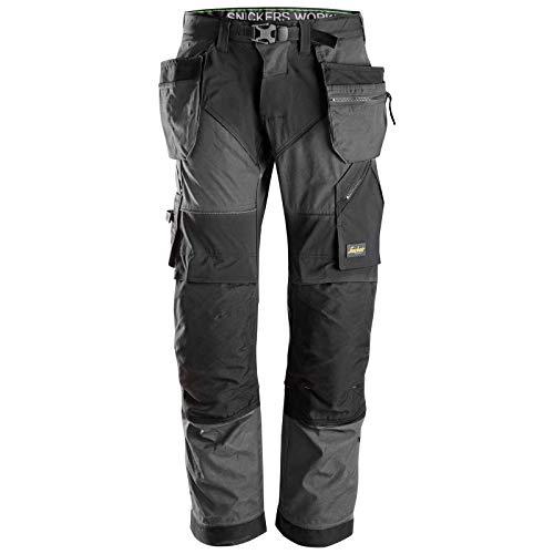 Snickers broek werkbroek FlexiWork met holsterzakken maat 256 in marineblauw/zwart, 44