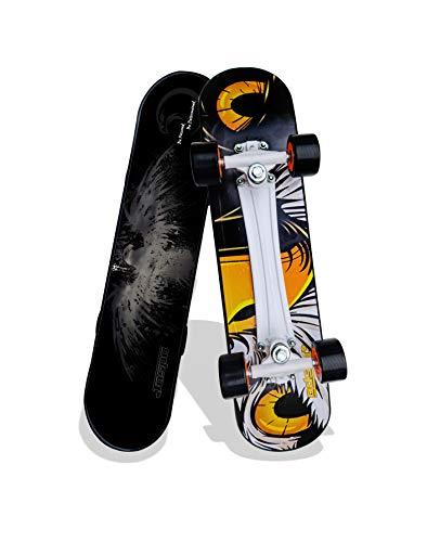"""jaspo Power Kids Fiber Skateboard for Beginners (Black, 6 Years & Above, 26"""" inches)"""