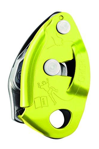Petzl Grigri 2, Assicuratore con sistema frenante assistito, ottimizzato per le corde da 9,4 a 10,3 mm, Giallo