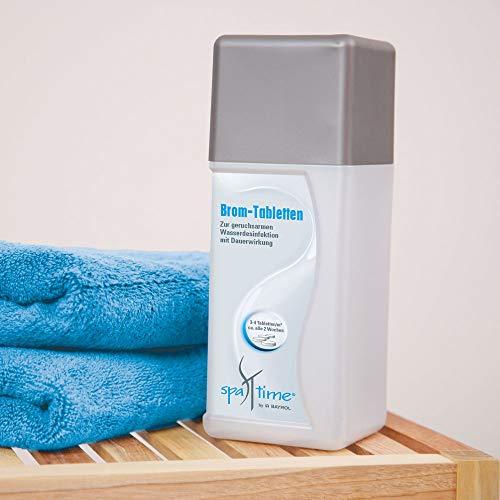 SpaTime by BAYROL - Brom Tabletten 0,8 kg - Wasserdesinfektion mit Brom, langsam löslich, kein Chlorgeruch