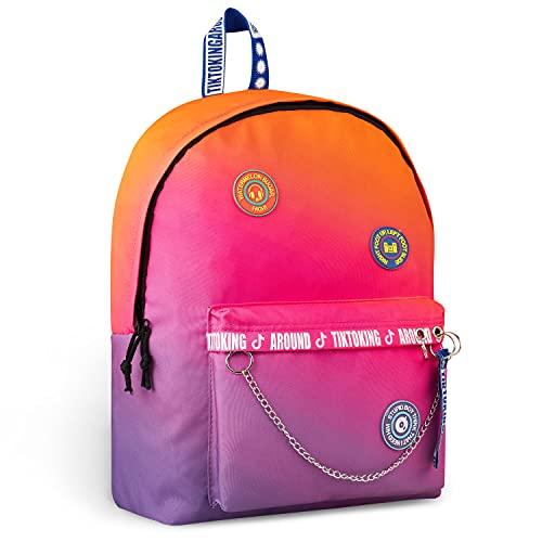 TikTok Mochilas Escolares, Mochila Niña y Adolescente, Mochilas Escolares Juveniles, Regalos para Niñas (Multicolor)