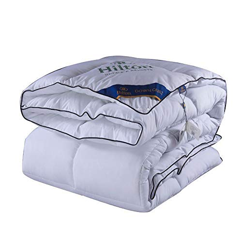VEDKYY Duvet Double Bed 10.5 Tog Winter Duvet King Size Quilt Double Feather Bedding Double Bed White Goose Feather Quilt Soft Bedsure Double Duvet Set Anti-Allergic Silky Anti-Allergic 180X220, 3Kg