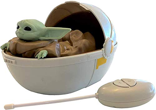 Mandalorian Star Wars The Baby Yoda The Child in Pram - Remote Control Crib Car