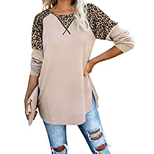 Women's Long Sleeve Loose Pullover Tunic Tops Plain Shirts