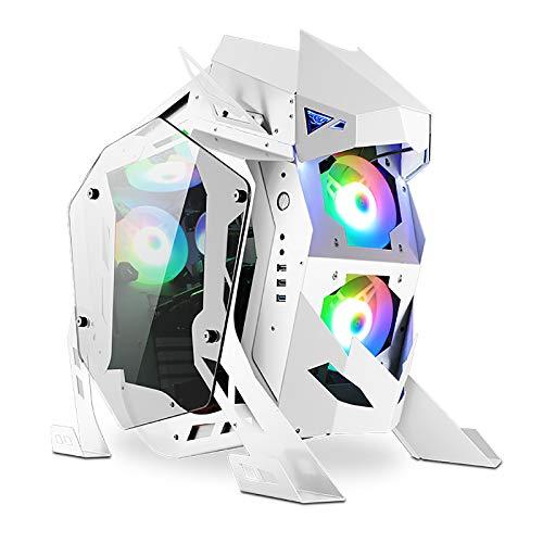 XINKO Caja de Juegos de computadora ATX Ventiladores de 5 Piezas, con chasis de computadora de Caja de PC de Vidrio Templado