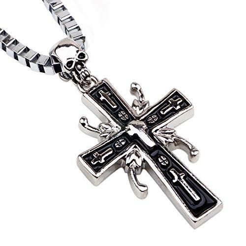2019 - Colgantes de moda para hombre, artículos de joyería, collares de cruz para hombre