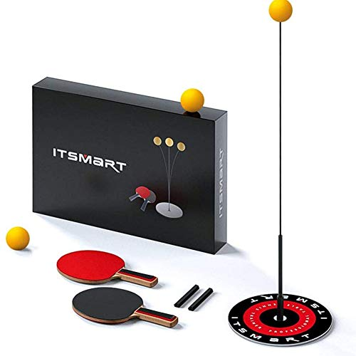 Best Price Weijl Table Tennis Trainer with Elastic Soft Shaft, Movable Ping Pong Balls Paddles Set, ...