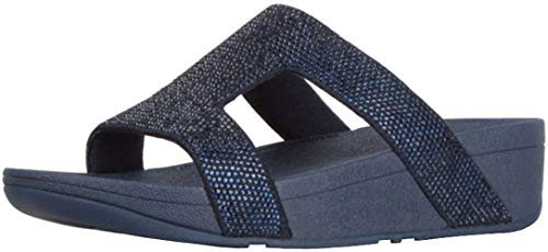 FitFlop Womens Marli Wedge Sandal, Midnight Navy, Size 8