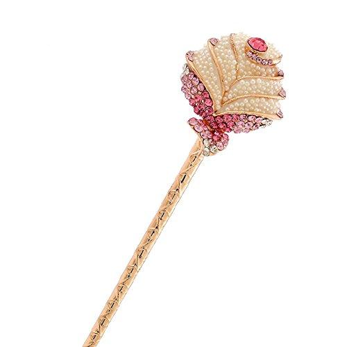 Rose Rétro Femmes Filles strass Pin cheveux Stick Cheveux Violet