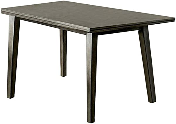Benjara Benzara BM123473 Rectangular Dining Table Gray