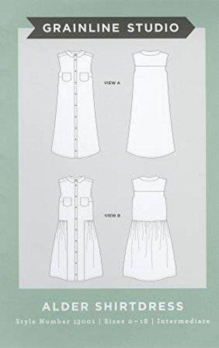 Grainline Studio Damen Schnittmuster 13001 Erle Shirtkleid