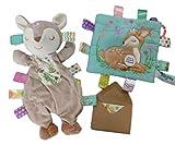 Taggies juguete sensorial calmante para ciervo, juguete y arrugas con tarjeta de regalo, 3 artículos
