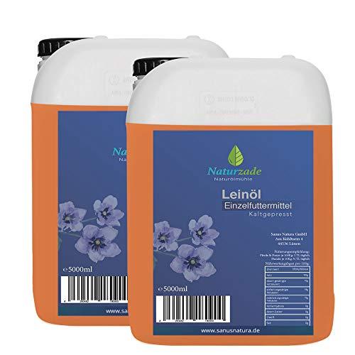 Naturzade Leinöl 10 Liter Premium Qualität 100% rein, kaltgepresst für Pferde & Hunde
