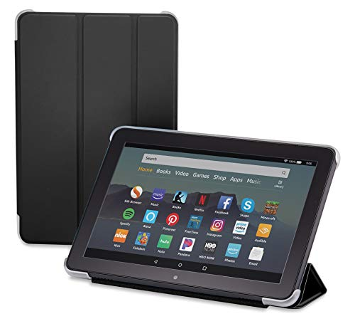 Nupro Tri-fold Standing Case for Fire HD 8 Tablet, Black (10th Gen, 2020 Release)
