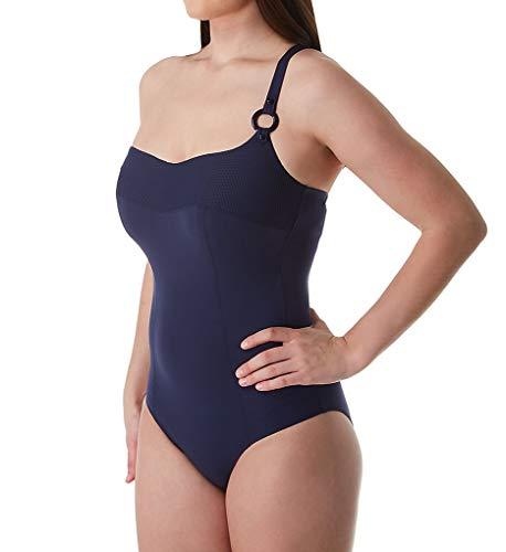 Empreinte Women's Escale One Shoulder One Piece Swimsuit PW-ESC 38F Eclipse