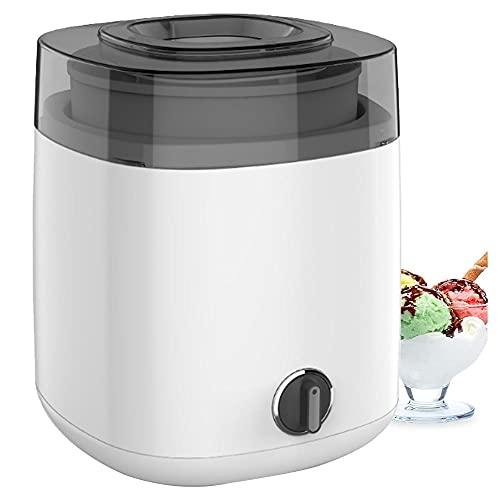 Eismaschine für selbstgemachte gefrorene Desserts wie Gelato, Sorbet und Frozen Joghurt, 1,5 l Gefrierschale, Mini-Eismaschine